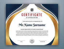 Conception de modèle de certificat professionnel polyvalent moderne