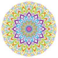 Éléments de décoration Vintage Mandala coloré, illustration vectorielle. vecteur