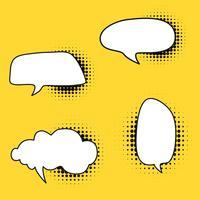Bulle de dialogue style comique en vecteur