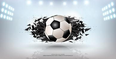 Fond de bannière de sport, élément de balle 3d de conception graphique réaliste avec espace de copie pour le modèle de maquette de présentation.