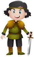Chevalier tenant l'épée tranchante