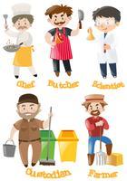 Différents types de métiers vecteur