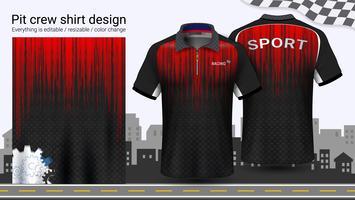 Polo t-shirt avec fermeture à glissière, modèle de maquette d'uniformes de course pour vêtements de sport et de sport.