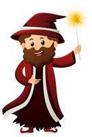 Magicien avec baguette magique
