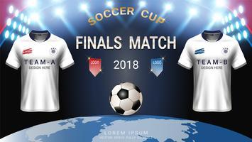 Coupe du monde de football, modèle, concept du dernier match gagnant.