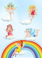 Un ensemble de fée colorée