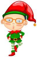 Elf portant un chapeau rouge vecteur