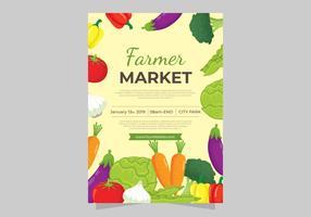 Flyer Design Farmers Market vecteur