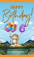 Carte d'anniversaire pour six ans