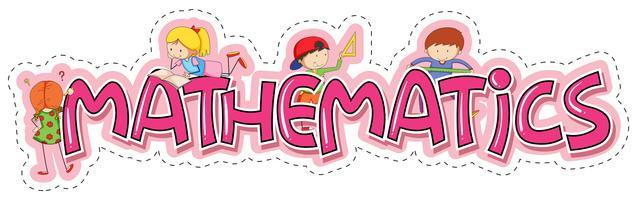 Création de mots pour les mathématiques dans les matières scolaires vecteur