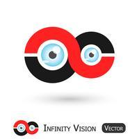 Infinity Vision (Signe de l'infini et globe oculaire)