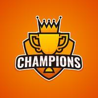Logo de la Ligue des Champions vecteur