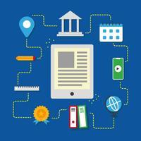 Collection de vecteur d'apprentissage en ligne