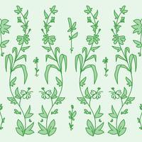 Motif de fleurs de jardin vecteur