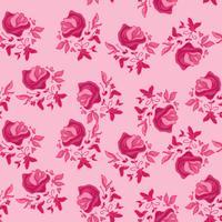 Motif de fleurs rose vecteur