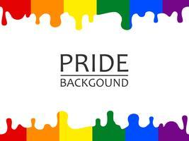 Illustration vectorielle de l'arc-en-ciel fierté LGBTQ dégoulinant de fond d'écran vecteur