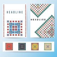 Modèle de brochure de couverture abstraite