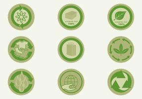 Eco Badge Pack Vector