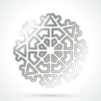 Flocon de neige argenté