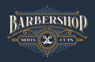 Lettrage vintage pour le salon de coiffure vecteur
