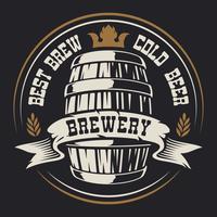 Badge avec un tonneau de bière