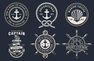 Set de badges marins