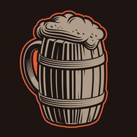 Illustration vectorielle de chope de bière