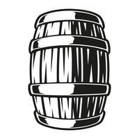 Illustration d'un tonneau de bière vecteur