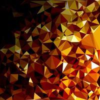Fond de mosaïque polygonale jaune, modèles de conception créative vecteur