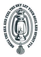 Illustration vectorielle d'une lampe à pétrole avec une corde