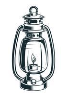 Illustration vectorielle d'une lampe à pétrole