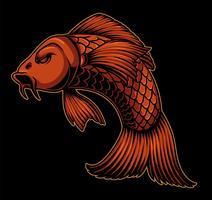 Illustration vectorielle de carpes koi