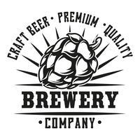 Illustration avec une bière de houblon vecteur