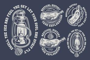 Ensemble d'illustrations marines vintage