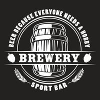 Insigne de baril de bière de vecteur