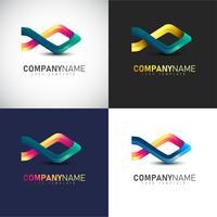 Abstract 3D Fish logo Modèle pour la marque de votre entreprise