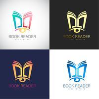Abstract 3D Book Reader logo Modèle pour la marque de votre entreprise vecteur