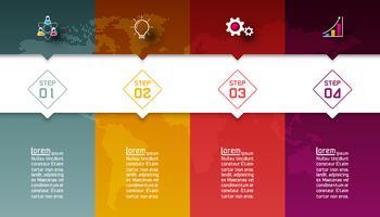 Barres colorées avec infographie icône affaires.