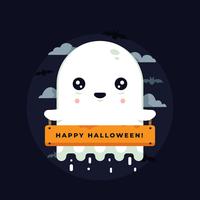 Vecteur de fantôme d'halloween