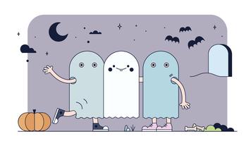 Vecteur de costumes d'halloween