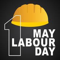 1 mai affiche de la fête du travail, illustration vectorielle, bannière bonne fête du travail. 1er mai. Modèle de conception. Illustration vectorielle - Vektör vecteur