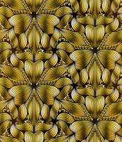 Abstrait motif géométrique sans soudure or vecteur