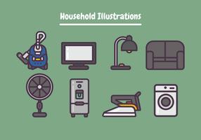 Illustrations de ménage vecteur