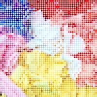 fond coloré en pixel art