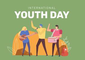 Célébrer la Journée internationale de la jeunesse vecteur
