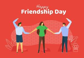 Célébrer la convivialité à l'illustration de la journée de l'amitié vecteur