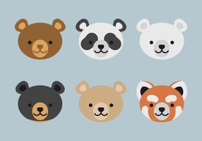 ensemble de visages d'animaux