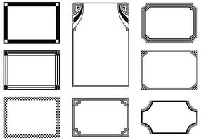 Ensemble vectoriel de cadres graphiques
