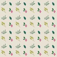 Motif de fleurs et de feuilles sans soudure