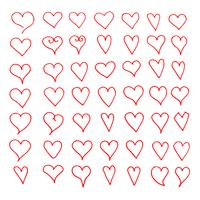 Icône de coeur dessiné à la main vecteur